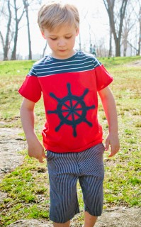 SHORT SLEEVE WHEEL APPLIQUE