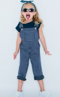 PINSTRIPED OVERALLS